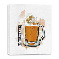 The great beer off Kanagawa - Canvas Wraps - Canvas Wraps - RIPT Apparel