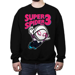 Super Spider Bros 3 - Crew Neck Sweatshirt - Crew Neck Sweatshirt - RIPT Apparel
