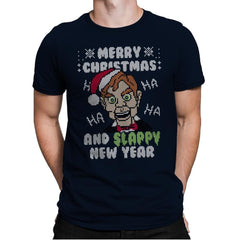 Slappy New Year! - Ugly Holiday - Mens Premium - T-Shirts - RIPT Apparel