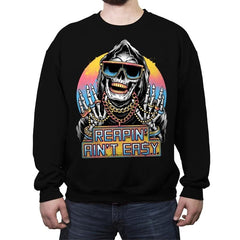 The Grim Rapper - Crew Neck Sweatshirt - Crew Neck Sweatshirt - RIPT Apparel