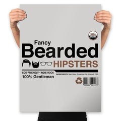 Fancy Bearded Hipster - Prints - Posters - RIPT Apparel