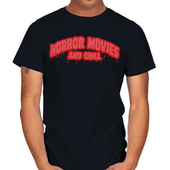 Horror Movies and Chill - Mens - T-Shirts - RIPT Apparel