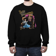 Beauty and the Brains - Crew Neck Sweatshirt - Crew Neck Sweatshirt - RIPT Apparel