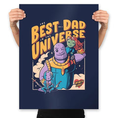 The Best Dad in the Universe - Prints - Posters - RIPT Apparel