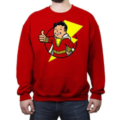 Vault Shazam - Crew Neck Sweatshirt - Crew Neck Sweatshirt - RIPT Apparel