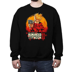 Red Humanoid Typhoon II - Crew Neck Sweatshirt - Crew Neck Sweatshirt - RIPT Apparel