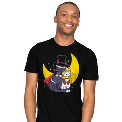 Moonlight Cats - Mens - T-Shirts - RIPT Apparel