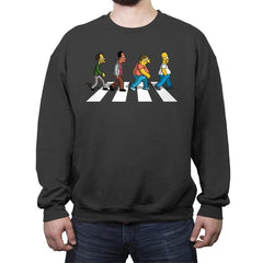 The Moes on Abbey Road - Crew Neck Sweatshirt - Crew Neck Sweatshirt - RIPT Apparel