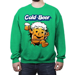 Cold Beer - Crew Neck Sweatshirt - Crew Neck Sweatshirt - RIPT Apparel