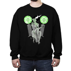 Pampered PinUp Bride - Crew Neck Sweatshirt - Crew Neck Sweatshirt - RIPT Apparel