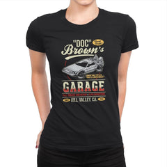 Doc Brown's Garage - Womens Premium - T-Shirts - RIPT Apparel