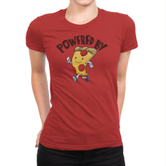Powered By Pizza - Womens Premium - T-Shirts - RIPT Apparel
