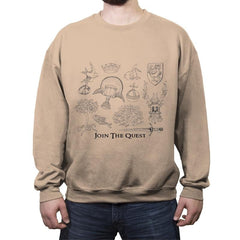 The Quest For The Grail - Crew Neck Sweatshirt - Crew Neck Sweatshirt - RIPT Apparel