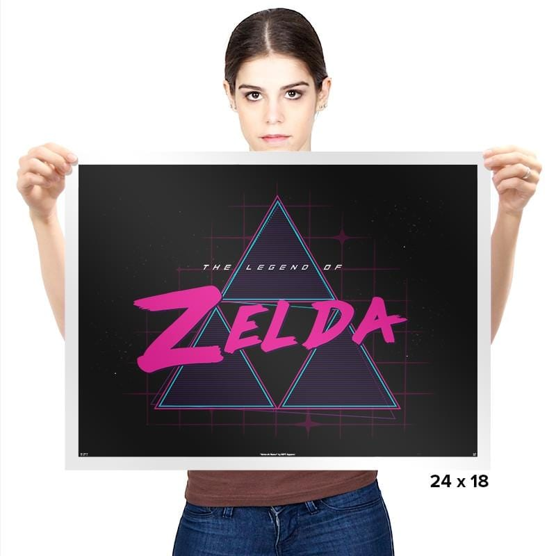 Zelda Synthwave - Prints - Posters - RIPT Apparel