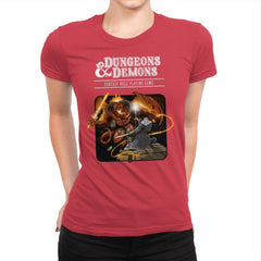 Dungeons & Dwarves - Womens Premium - T-Shirts - RIPT Apparel