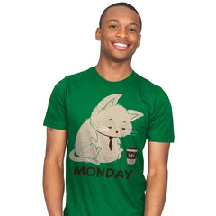 Monday Cat - Mens - T-Shirts - RIPT Apparel
