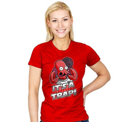 It's a Lobster Trap - Womens - T-Shirts - RIPT Apparel