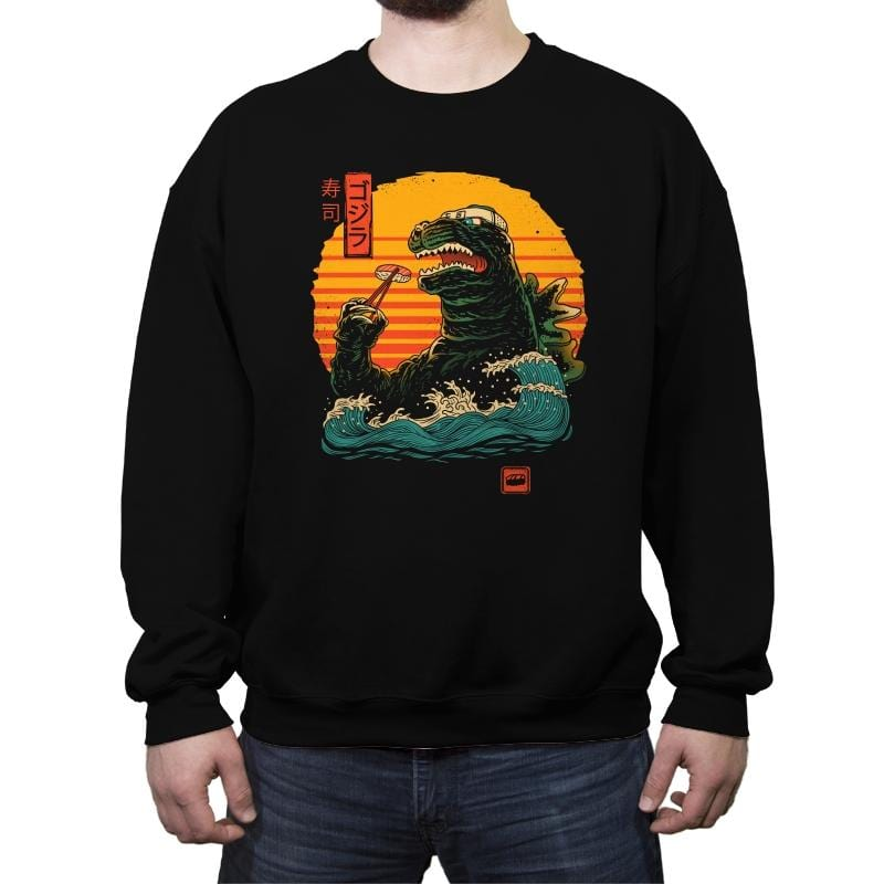 King of Sushi - Crew Neck Sweatshirt - Crew Neck Sweatshirt - RIPT Apparel