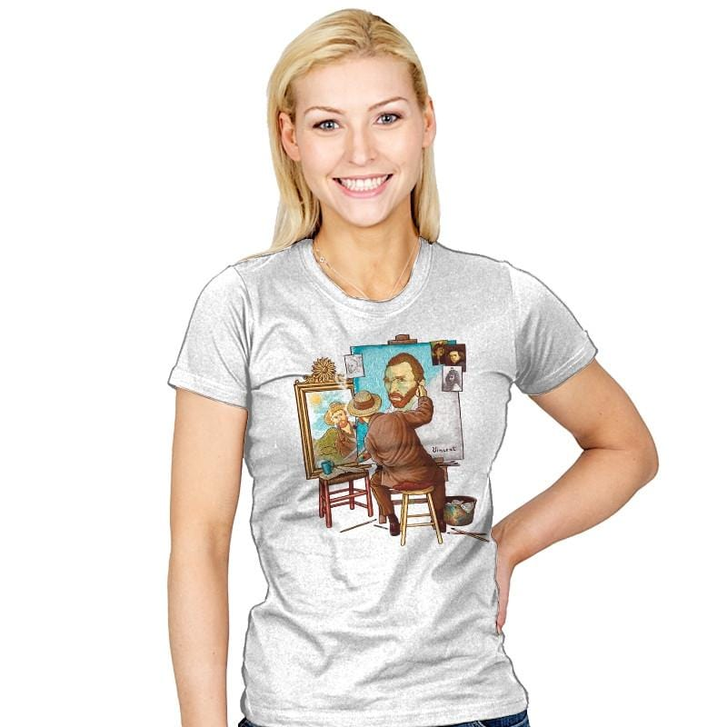 Van Gogh Triple Portrait - Pop Impressionism - Womens - T-Shirts - RIPT Apparel