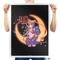 Moon Light Samurai - Prints - Posters - RIPT Apparel