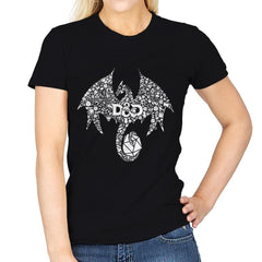 Mosaic Dragon - Womens - T-Shirts - RIPT Apparel