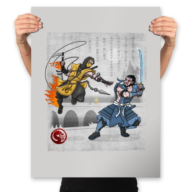 Fire vs Ice - Prints - Posters - RIPT Apparel