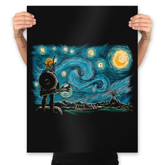 Starry Breath - Prints - Posters - RIPT Apparel