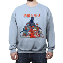 Tokusatsu Club - Crew Neck Sweatshirt - Crew Neck Sweatshirt - RIPT Apparel