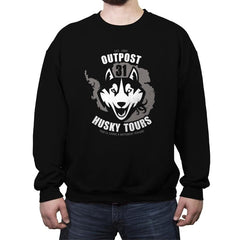 Outpost 31 Husky Tours - Crew Neck Sweatshirt - Crew Neck Sweatshirt - RIPT Apparel