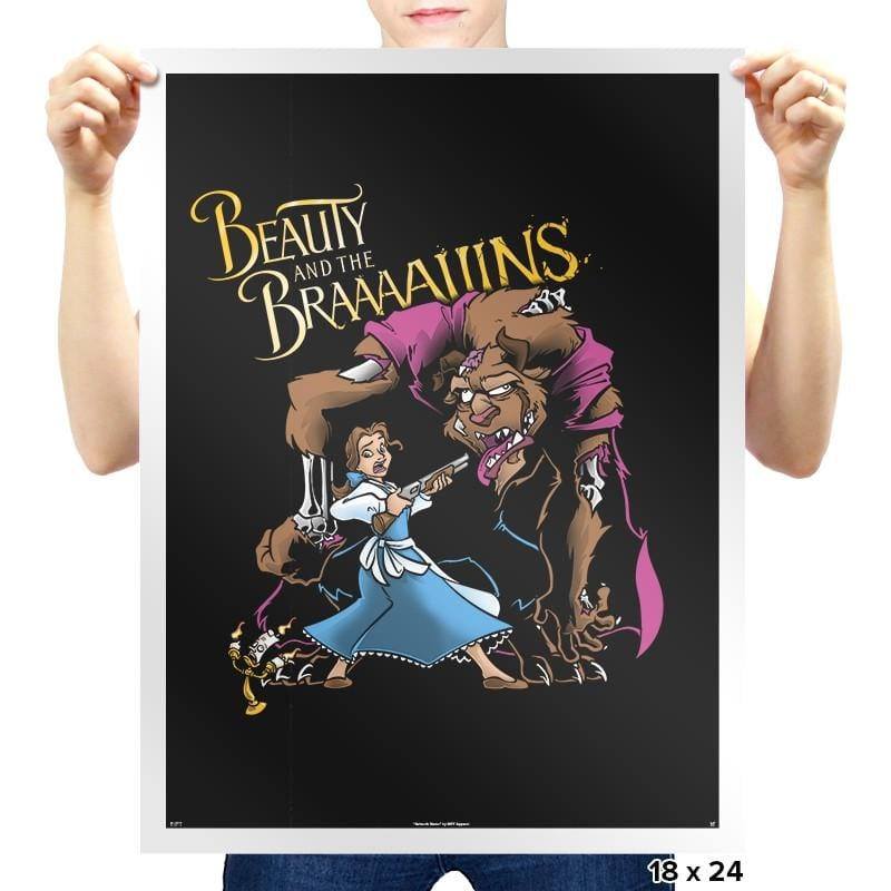 Beauty and the Brains Exclusive - Prints - Posters - RIPT Apparel
