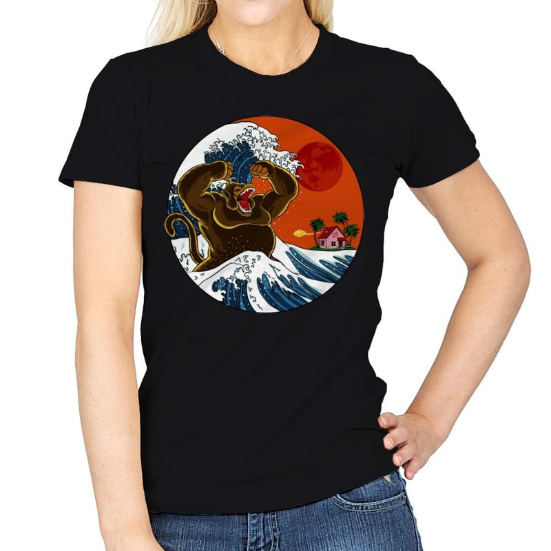 Great Monster From Kanagawa - Womens - T-Shirts - RIPT Apparel