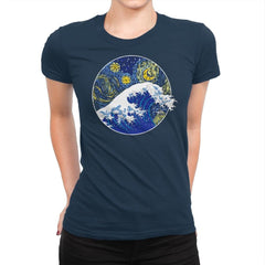 Starry Wave - Womens Premium - T-Shirts - RIPT Apparel