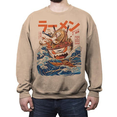 Great Ramen off Kanagawa  - Crew Neck Sweatshirt - Crew Neck Sweatshirt - RIPT Apparel
