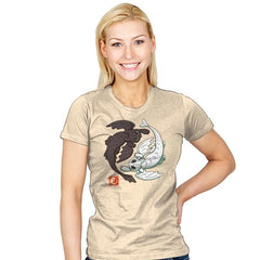 Yin Yang Dragons - Womens - T-Shirts - RIPT Apparel