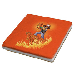 The Fire King - Pop Impressionism - Coasters - Coasters - RIPT Apparel