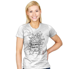 Castle Plan - Womens - T-Shirts - RIPT Apparel