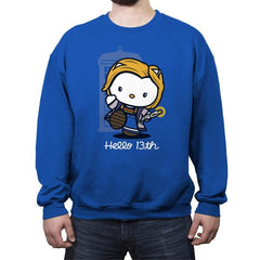 Hello 13th - Crew Neck Sweatshirt - Crew Neck Sweatshirt - RIPT Apparel