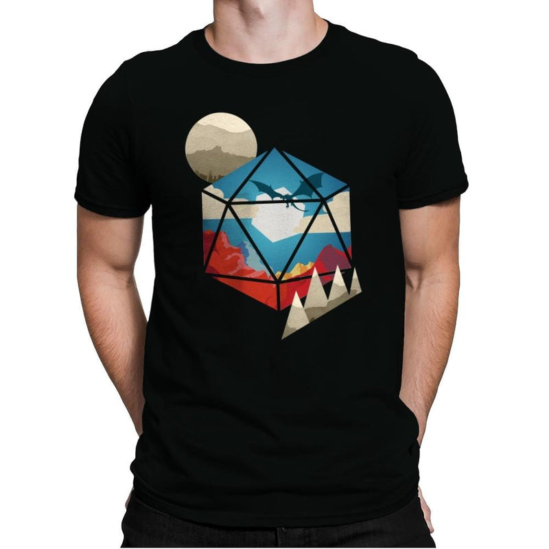 D20 World - Mens Premium - T-Shirts - RIPT Apparel