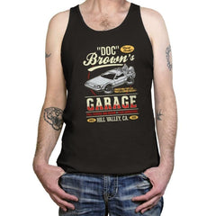 Doc Brown's Garage - Tanktop - Tanktop - RIPT Apparel