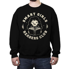 Smart Girls Readers Club - Crew Neck Sweatshirt - Crew Neck Sweatshirt - RIPT Apparel