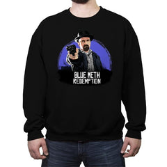 Blue Meth Redemption - Crew Neck Sweatshirt - Crew Neck Sweatshirt - RIPT Apparel