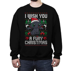 Fury Christmas - Crew Neck Sweatshirt - Crew Neck Sweatshirt - RIPT Apparel
