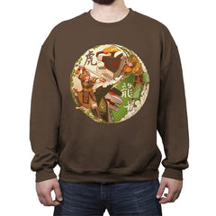 Zord Dynasty - Crew Neck Sweatshirt - Crew Neck Sweatshirt - RIPT Apparel