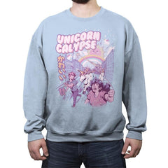 Unicorn Calypse - Crew Neck Sweatshirt - Crew Neck Sweatshirt - RIPT Apparel
