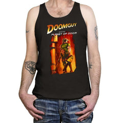 Doomguy and the Planet of Doom - Tanktop - Tanktop - RIPT Apparel
