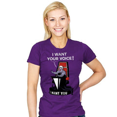 I Want Your Voice Now! - Raffitees - Womens - T-Shirts - RIPT Apparel