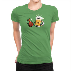 Wings and Beer - Womens Premium - T-Shirts - RIPT Apparel