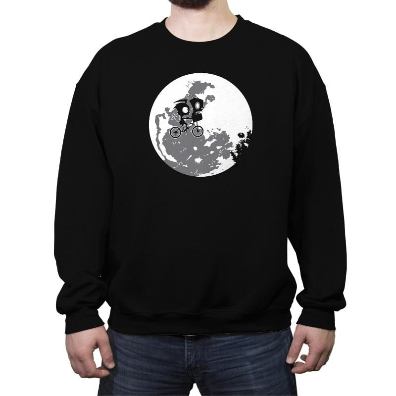 Dib and the E.T Reprint - Crew Neck Sweatshirt - Crew Neck Sweatshirt - RIPT Apparel