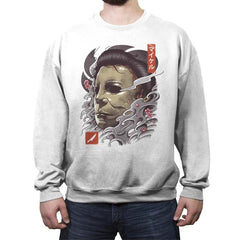 Oni Slasher Mask - Crew Neck Sweatshirt - Crew Neck Sweatshirt - RIPT Apparel