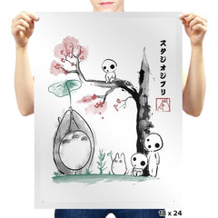 Growing Trees Sumi-e - Prints - Posters - RIPT Apparel